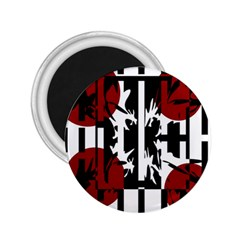 Red, Black And White Elegant Design 2 25  Magnets by Valentinaart