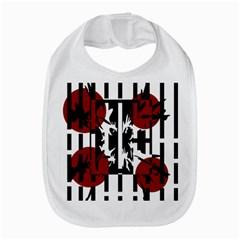 Red, Black And White Elegant Design Bib by Valentinaart