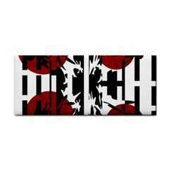 Red, Black And White Elegant Design Hand Towel by Valentinaart