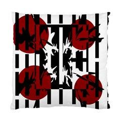Red, Black And White Elegant Design Standard Cushion Case (two Sides) by Valentinaart