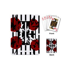 Red, Black And White Elegant Design Playing Cards (mini)  by Valentinaart