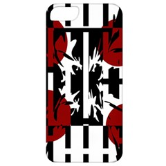 Red, Black And White Elegant Design Apple Iphone 5 Classic Hardshell Case by Valentinaart