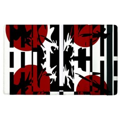 Red, Black And White Elegant Design Apple Ipad 2 Flip Case by Valentinaart