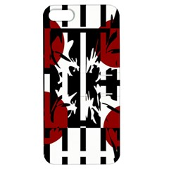 Red, Black And White Elegant Design Apple Iphone 5 Hardshell Case With Stand by Valentinaart