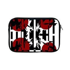 Red, Black And White Elegant Design Apple Ipad Mini Zipper Cases by Valentinaart