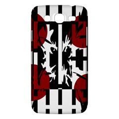 Red, Black And White Elegant Design Samsung Galaxy Mega 5 8 I9152 Hardshell Case  by Valentinaart