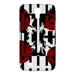 Red, Black And White Elegant Design Samsung Galaxy Mega 6 3  I9200 Hardshell Case by Valentinaart