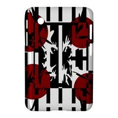 Red, Black And White Elegant Design Samsung Galaxy Tab 2 (7 ) P3100 Hardshell Case  by Valentinaart