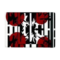 Red, Black And White Elegant Design Ipad Mini 2 Flip Cases by Valentinaart