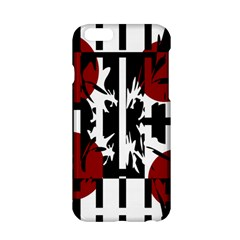Red, Black And White Elegant Design Apple Iphone 6/6s Hardshell Case by Valentinaart