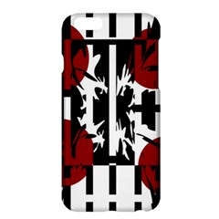Red, Black And White Elegant Design Apple Iphone 6 Plus/6s Plus Hardshell Case by Valentinaart