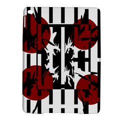 Red, Black And White Elegant Design Ipad Air 2 Hardshell Cases by Valentinaart