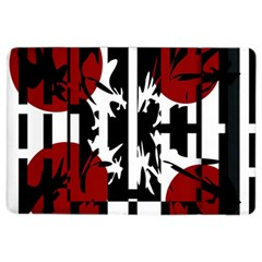 Red, Black And White Elegant Design Ipad Air 2 Flip by Valentinaart