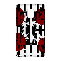 Red, Black And White Elegant Design Galaxy Note Edge by Valentinaart
