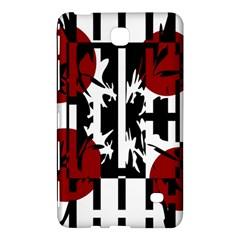 Red, Black And White Elegant Design Samsung Galaxy Tab 4 (7 ) Hardshell Case  by Valentinaart
