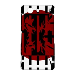 Red, black and white decorative design Sony Xperia Z3 Compact