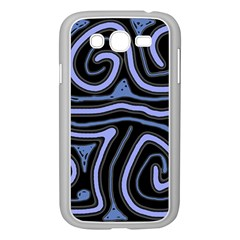 Blue Abstract Design Samsung Galaxy Grand Duos I9082 Case (white) by Valentinaart