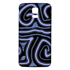 Blue Abstract Design Samsung Galaxy S5 Back Case (white) by Valentinaart