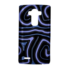 Blue abstract design LG G4 Hardshell Case by Valentinaart