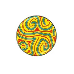 Colorful Decorative Lines Hat Clip Ball Marker by Valentinaart