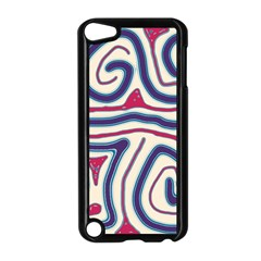 Blue and red lines Apple iPod Touch 5 Case (Black) by Valentinaart