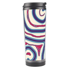 Blue And Red Lines Travel Tumbler by Valentinaart