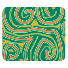 Green And Orange Lines Double Sided Flano Blanket (small)  by Valentinaart