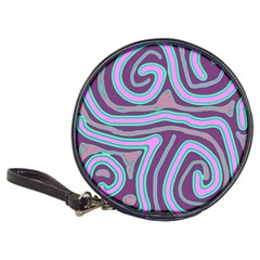 Purple Lines Classic 20 Cd Wallets by Valentinaart