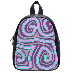 Purple Lines School Bags (small)  by Valentinaart