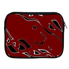 Decorative abstract art Apple iPad 2/3/4 Zipper Cases by Valentinaart
