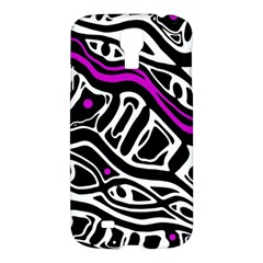 Purple, black and white abstract art Samsung Galaxy S4 I9500/I9505 Hardshell Case