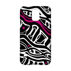 Magenta, Black And White Abstract Art Samsung Galaxy S5 Hardshell Case  by Valentinaart