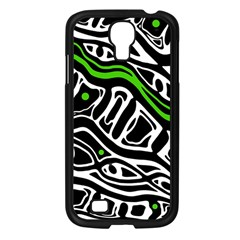 Green, Black And White Abstract Art Samsung Galaxy S4 I9500/ I9505 Case (black) by Valentinaart