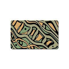 Green Abstract Art Magnet (name Card) by Valentinaart