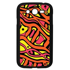Orange Hot Abstract Art Samsung Galaxy Grand Duos I9082 Case (black) by Valentinaart