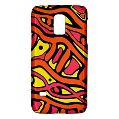Orange Hot Abstract Art Galaxy S5 Mini by Valentinaart