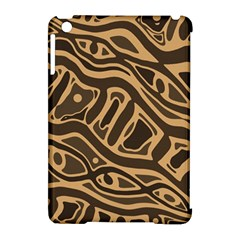 Brown Abstract Art Apple Ipad Mini Hardshell Case (compatible With Smart Cover) by Valentinaart