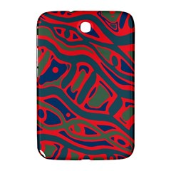 Red And Green Abstract Art Samsung Galaxy Note 8 0 N5100 Hardshell Case  by Valentinaart