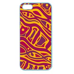 Orange Abstract Art Apple Seamless Iphone 5 Case (color) by Valentinaart