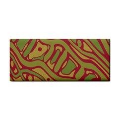 Brown Abstract Art Hand Towel by Valentinaart