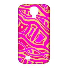 Pink Abstract Art Samsung Galaxy S4 Classic Hardshell Case (pc+silicone) by Valentinaart