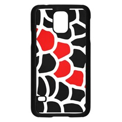 Red, Black And White Abstraction Samsung Galaxy S5 Case (black) by Valentinaart