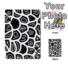 Black And White Playful Design Playing Cards 54 Designs  by Valentinaart