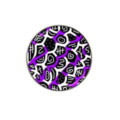 Purple Playful Design Hat Clip Ball Marker by Valentinaart
