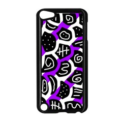 Purple Playful Design Apple Ipod Touch 5 Case (black) by Valentinaart