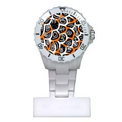 Orange Playful Design Plastic Nurses Watch by Valentinaart