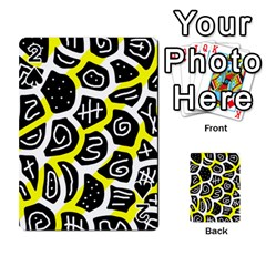 Yellow Playful Design Playing Cards 54 Designs  by Valentinaart