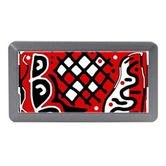 Red high art abstraction Memory Card Reader (Mini) by Valentinaart