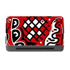 Red High Art Abstraction Memory Card Reader With Cf by Valentinaart