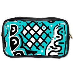 Cyan high art abstraction Toiletries Bags 2-Side